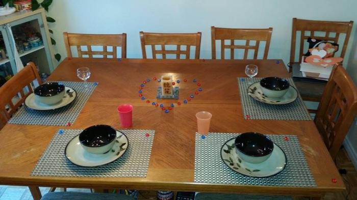 Ma table de la St-Valentin