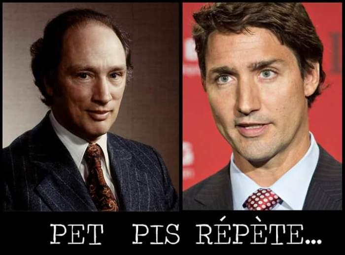 Pierre-Elliot Trudeau (père) & Justin Trudeau (fils)